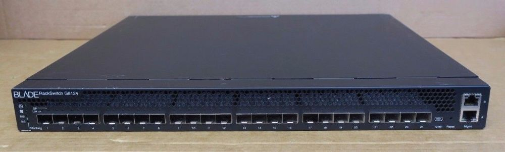 Blade RackSwitch G8124 24 Port 10GbE SFP+ 10G Network Switch Layer 3 L3